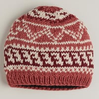 Coral Fairisle Wool Hat - World Market