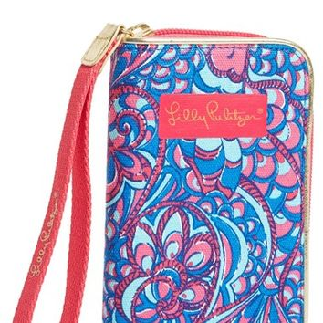 Women's Lilly Pulitzer 'Drop Me a Line - Reel Me In' Smartphone Wristlet - Pink