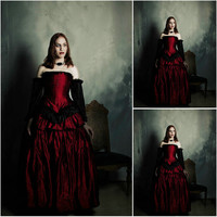 Victorian Corset Gothic/Civil War Southern Belle Ball Gown Dress Halloween dresses US 4-16 R-389 Alternative Measures - Brides & Bridesmaids - Wedding, Bridal, Prom, Formal Gown