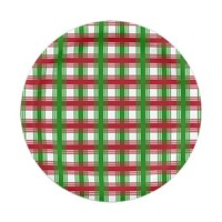 Christmas Holiday Red Green Plaid Party Paper Plate