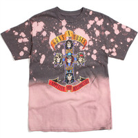 Guns & Roses Cross T-Shirt Bleach Grey
