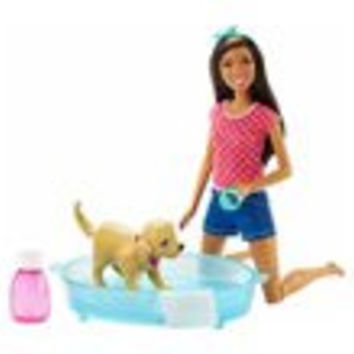 Barbie Splish Splash Pup African American Doll
