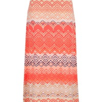 Multicolor Patterned Maxi Skirt - Multi