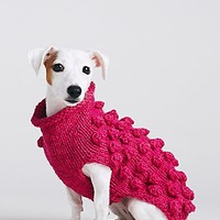 Ware of the Dog Womens Bobble Knit Sweater