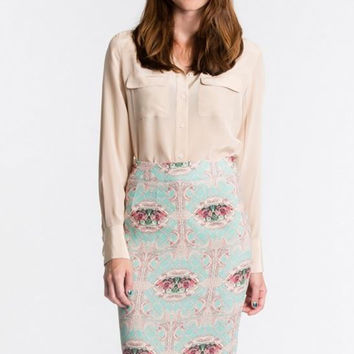 Blaque Label Printed Skirt
