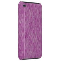 Raspberry Zigzag - Pink Abstract Pattern Barely There iPod Cover