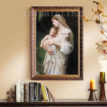 Mama Mary Jesus Christ Painting On Canvas art Wall Pictures Jesus Christ Virgin Mary Holding The Jesus Art hand painted original painting