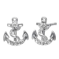 Amazon.com: Soufeel sterling silver anchor stud earrings: Jewelry