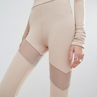 Bones Leggings With Mesh Inserts
