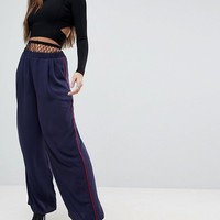 ASOS Tailored Contrast Piped Track Pant at asos.com