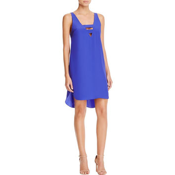 Amanda Uprichard Womens Christian Cut-Out Sleeveless Mini Dress