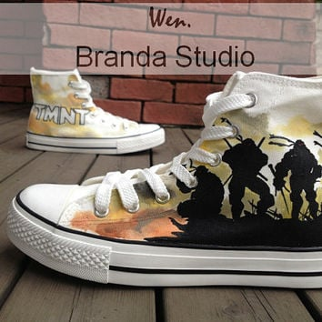 Ninja Turtles Canvas Shoes Studio Hand Painted Shoes 56.99Usd ,Paint On Custom Converse Shoes Only 95Usd,Buy One Get One Phone Case Free
