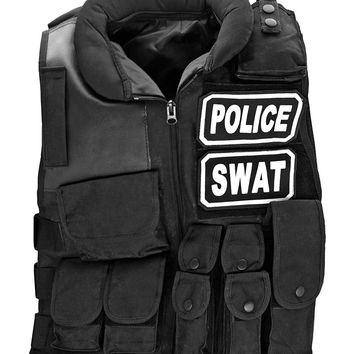 Police SWAT Tactical Vest - Black