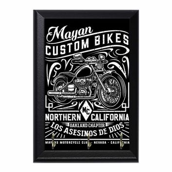 Custom Bikes OAK Decorative Wall Plaque Key Holder Hanger