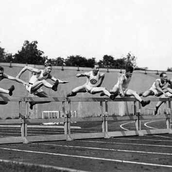 USC Track and Field High Hurdles Photo Fine Art Print