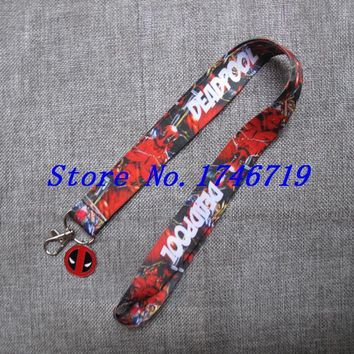 Deadpool Dead pool Taco Retail New 1 pcs cartoon   pendant with Lanyard  Neck Strap  Holders With Key Chain ST-9 AT_70_6