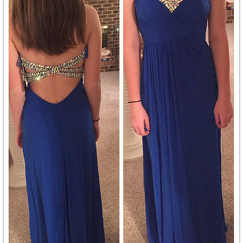 Royal Blue Sweetheart A-Line  Prom Dresses,Evening Dresses