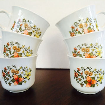Corelle Indian Summer Cups, Expressions Livingware for Vintage Kitchen, Felix Vintage Market
