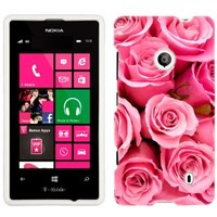 Nokia Lumia 521 Beautiful Pink Roses Print Flowers Phone Case Cover