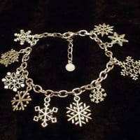 Snowflake Charm Bracelet for a special unique snowflake by punqd