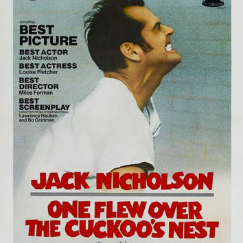 One Flew Over The Cuckoo's Nest 11x17 Movie Poster (1975)