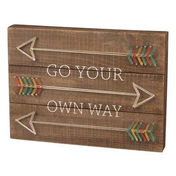 Primitives by Kathy 'Go Your Own Way' String Art Box Sign | Nordstrom
