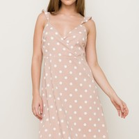 Polka Dot Nude Summer Dress