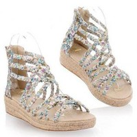 Flora Braided Lace Sandals for Women FDI754