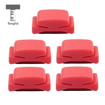 Tooyful 5pcs Guitar String Picks Plectrum Holder Clamp Clip Red Guitar Accs