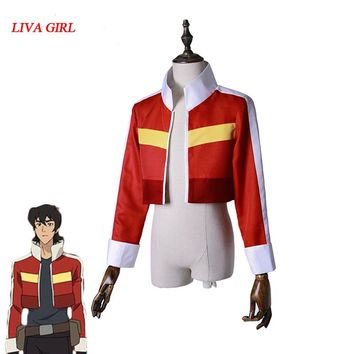 Voltron:Legendary Defender of the Universe Keith Akira Kogane Cosplay Costume Jacket Coat Halloween Carnival Cosplay Costumes