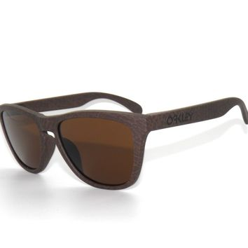 CLEARANCE*OAKLEY A-FROGSKINS 9245-29 TOBACCO /DARK BRONZE SUNGLASSES