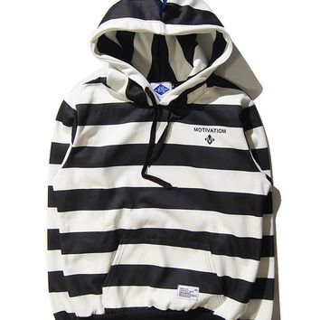 Hip-hop Strong Character Stripes Unisex Winter Cotton Hoodies [9506894087]
