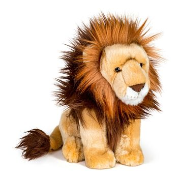 12 Inch Stuffed Lion Plush Floppy Animal Kingdom Collection