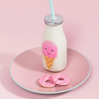Sass & Belle happy ice cream mini milk bottle with straw 225ml at asos.com