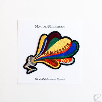 Macon & Lesquoy Loudspeaker Hand Embroidered Patch