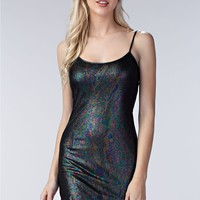 Iridescent Knit Slip Dress
