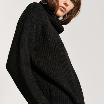 Ribbed Turtleneck Sweater