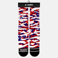 Digital Ripped camo American printed socks