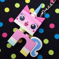 Unikitty Minifigure Keychain...Handmade using LEGO® parts