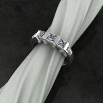 Diamond Emerald Band – custom designed by Patty at Elegant Jewelers