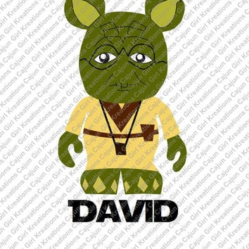 Star Wars Yoda Personalized with name Disney Vacation Birthday Printable Iron On Transfer DIY Clipart