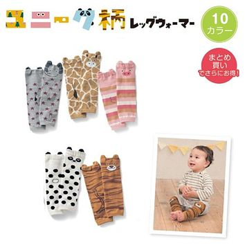 1 Pair Baby Cotton Socks Baby Cartoon Animal Crawling 30cm Knee High Socks Knee Pad Protector Kids Girl Boy Leg Warmers