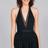 Out From Under Valencia Halter Bodysuit - Urban Outfitters