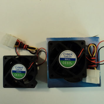 Cyber Cooler Computer Case Fan 60MM 12VDC Lot of 2 0.14A SF-600 -- New