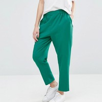 ASOS PETITE Woven Peg Pull On Pants at asos.com