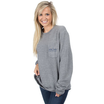Pocket Logo Sweatshirt in Grey by Lauren James - FINAL SALE