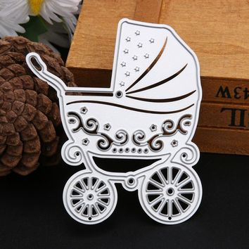 Cute DIY Carbon Steel Baby Carriage Shape Embossing Cutting Dies Stencils for Scrapbooking/Photo Album DIY Crafts Decor