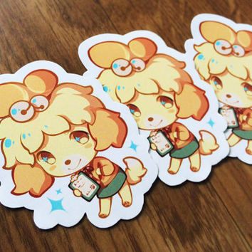 Isabelle Animal Crossing Handcut Stickers