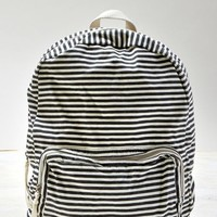 AEO Women's Striped Backpack (Black)