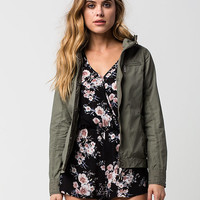JOU JOU Womens Hooded Bomber Jacket | Jackets